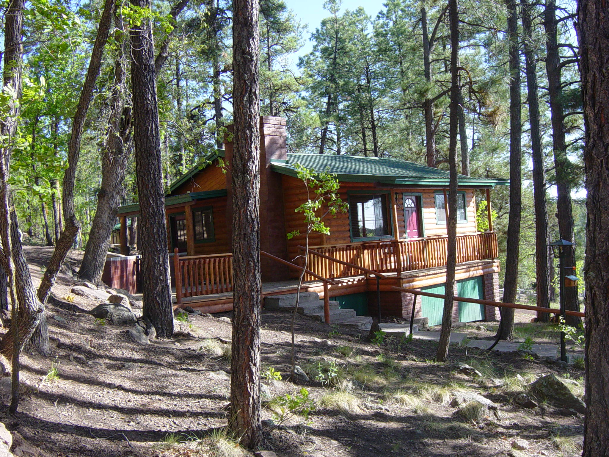 right rentals home slide cabin az bow the cabins in broken find